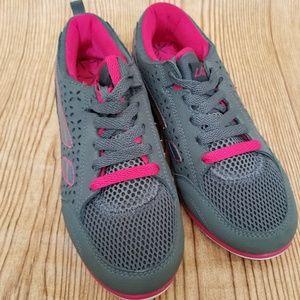 La Gear Lightweight Gray&Hot Pink Sneakers for sale
